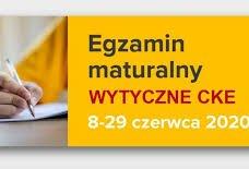 Wytyczne do organizacji i przeprowadzenia egzaminu maturalnego - czerwiec 2020 r.